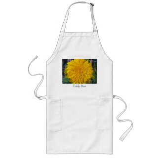 Teddy Bear Sunflower Long Apron