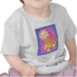 Teddy Bear Sunset kis clothing T Shirts