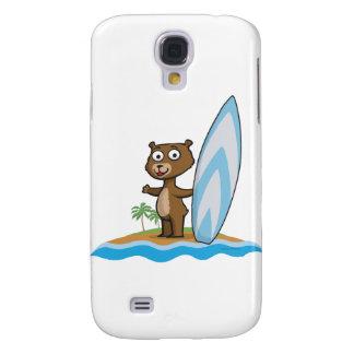 Teddy Bear Surfer Samsung Galaxy S4 Case