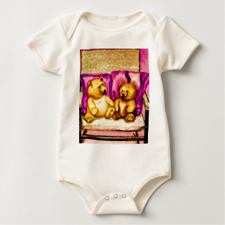 Teddy Bear Talks  CricketDiane Art & Design Baby Bodysuit
