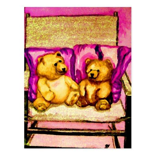 Teddy Bear Talks  CricketDiane Art & Design Postcard