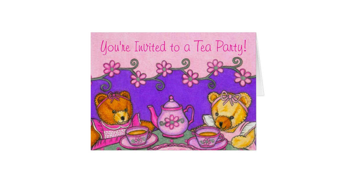 Amazing Teddy Bear Tea Party Invitations Image Collection ...