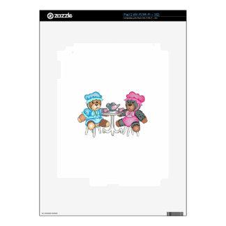 TEDDY BEAR TEA PARTY DECAL FOR iPad 2