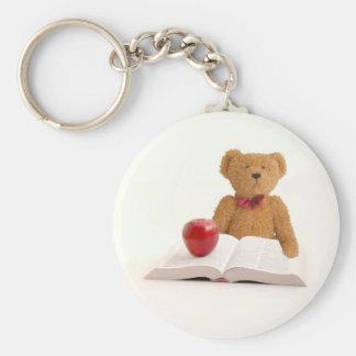 Teddy bear teacher keychain