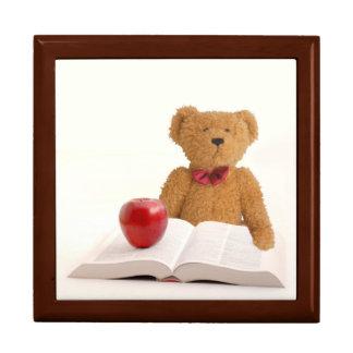 Teddy bear teacher or student keepsake box