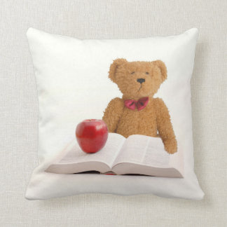 Teddy bear teacher throw pillow