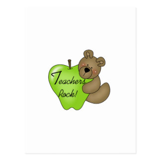 Teddy Bear Teachers Rock Tshirts and Gifts Postcard