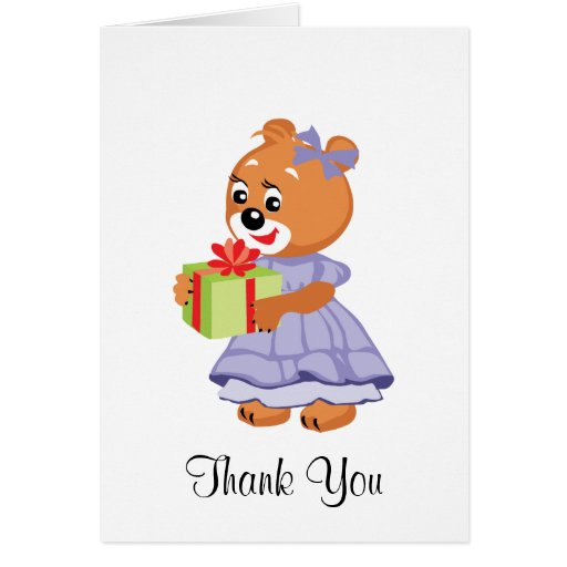 Teddy Bear Thank You Note Greeting Card