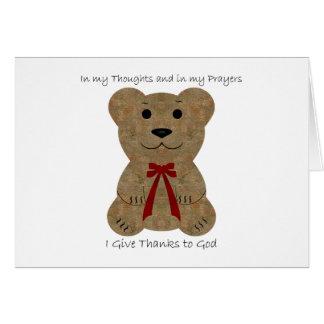 Teddy Bear ~ Thanks To God Card