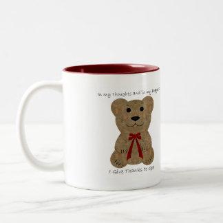 Teddy Bear ~ Thanks To God Mugs