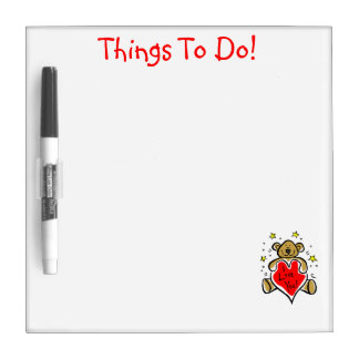 Teddy Bear Things to Do Magnet Board Dry Erase Whiteboards