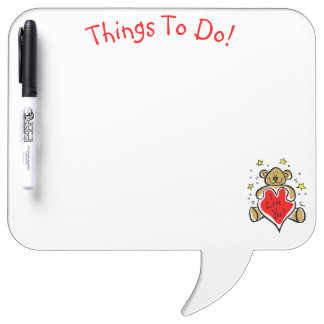 Teddy Bear Things to Do Magnet Board Dry Erase Boards