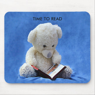 Teddy Bear Time to Read Mousepad