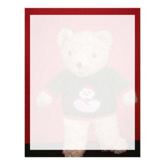 Teddy bear toy for kids customized letterhead