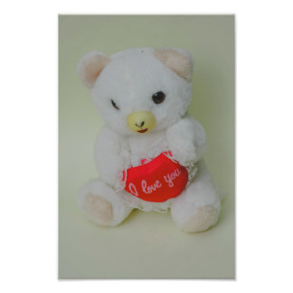 Teddy bear toy photo print