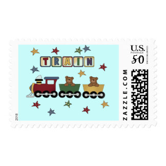 Teddy Bear Train T-shirts and Gifts Postage