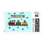 Teddy Bear Train T-shirts and Gifts Postage Stamp