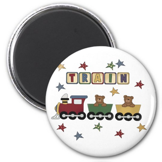 Teddy Bear Train Tshirts and Gifts Magnet