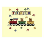 Teddy Bear Train Tshirts and Gifts Post Cards
