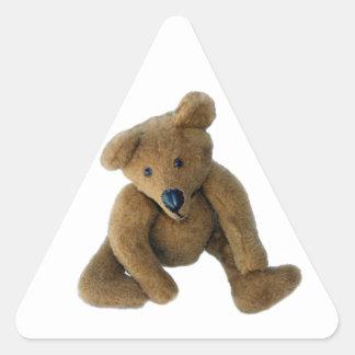 Teddy Bear Triangle Sticker