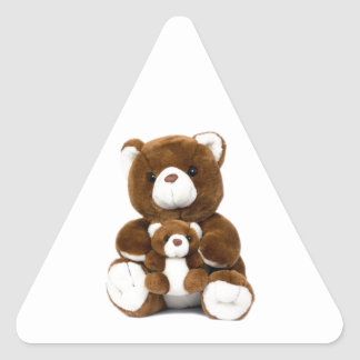teddy bear triangle sticker