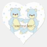 Teddy Bear Twins Sticker