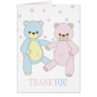 Teddy Bear Twins Thank You Notecard