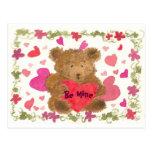Teddy Bear Valentine Post Card