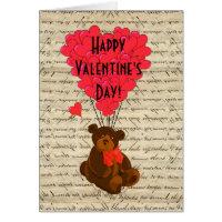 Teddy Bear Valentines Day Greeting Card