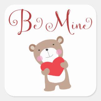 Teddy Bear Valentine's Day Stickers