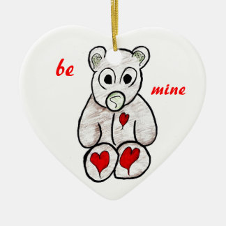 Teddy Bear Valentine's Heart Ornament