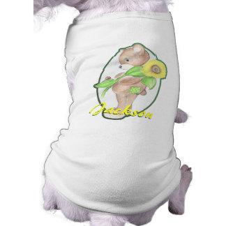 Teddy bear w/ Sunflower Dog Shirt