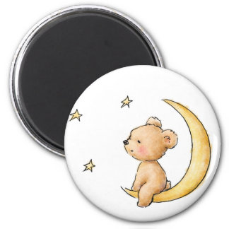 teddy bear watching the stars magnet