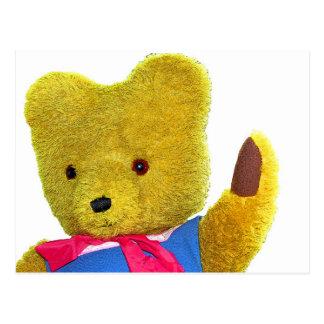 Teddy Bear Waving, Head and Shoulders (1) Postcard