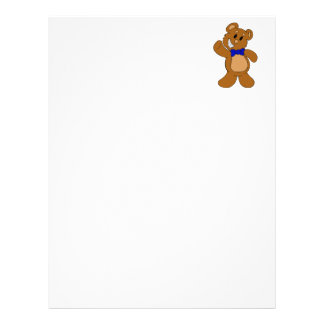 Teddy Bear Waving Letterhead