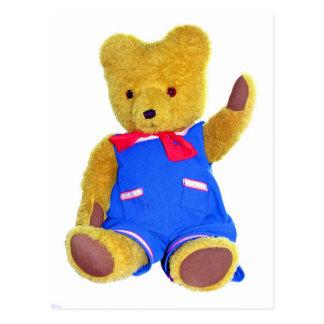 Teddy Bear Waving Postcard