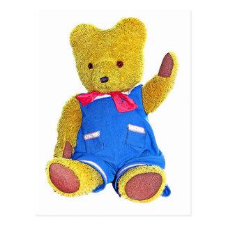 Teddy Bear Waving - Style 2 Postcard