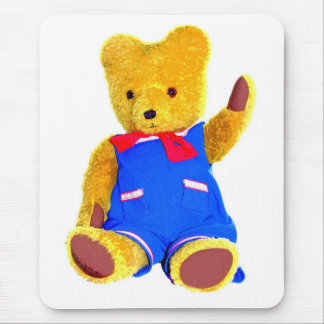 Teddy Bear Waving - Style 3 Mouse Pad