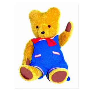 Teddy Bear Waving - Style 3 Postcard