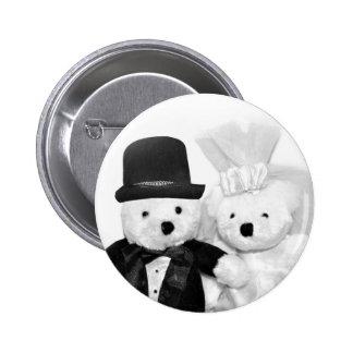 Teddy Bear Wedding Buttons