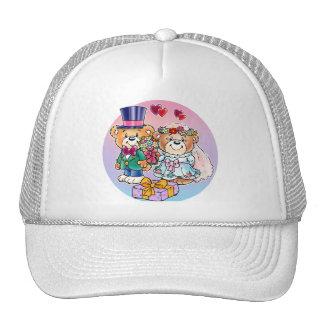 Teddy Bear Wedding Couple Trucker Hat