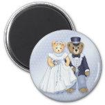 Teddy Bear Wedding - Customize 2 Inch Round Magnet