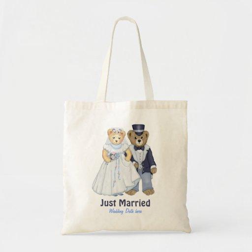 Teddy Bear Wedding - Customize Canvas Bags