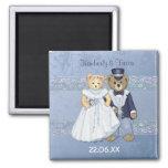 Teddy Bear Wedding - Customize Fridge Magnet