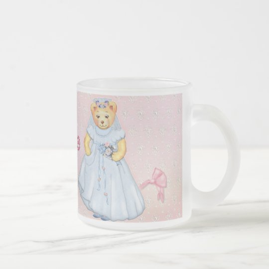 Teddy Bear Wedding - Customize Frosted Glass Coffee Mug