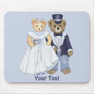 Teddy Bear Wedding - Customize Mouse Pad