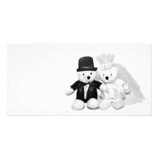 Teddy Bear Wedding Photo Greeting Card