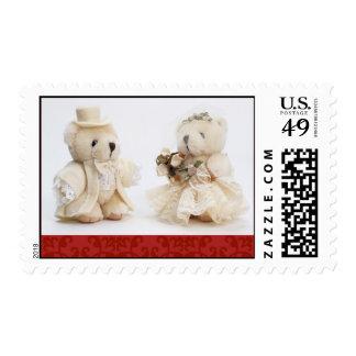 Teddy bear wedding Postage