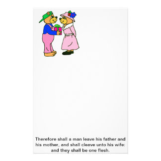 Teddy Bear Wedding Scripture Stationery