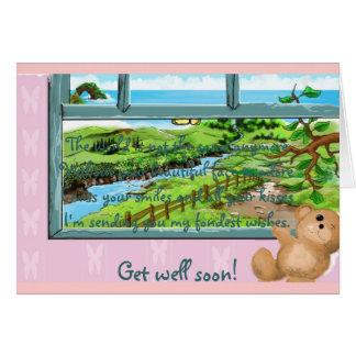 Teddy Bear window sill Card